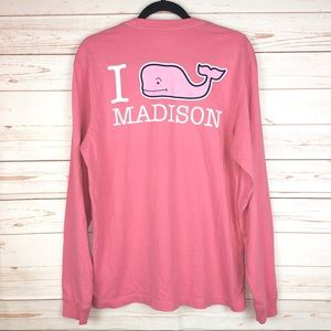 Vineyard Vines Madison Pink Long Sleeve Shirt Sz S